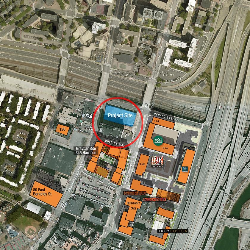 321 Harrison Avenue Boston South End Office Building Site Plan