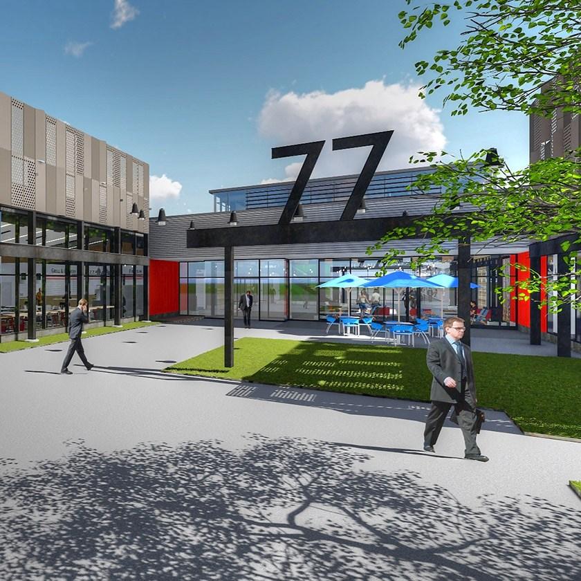 Design Rendering of 77A Entrance