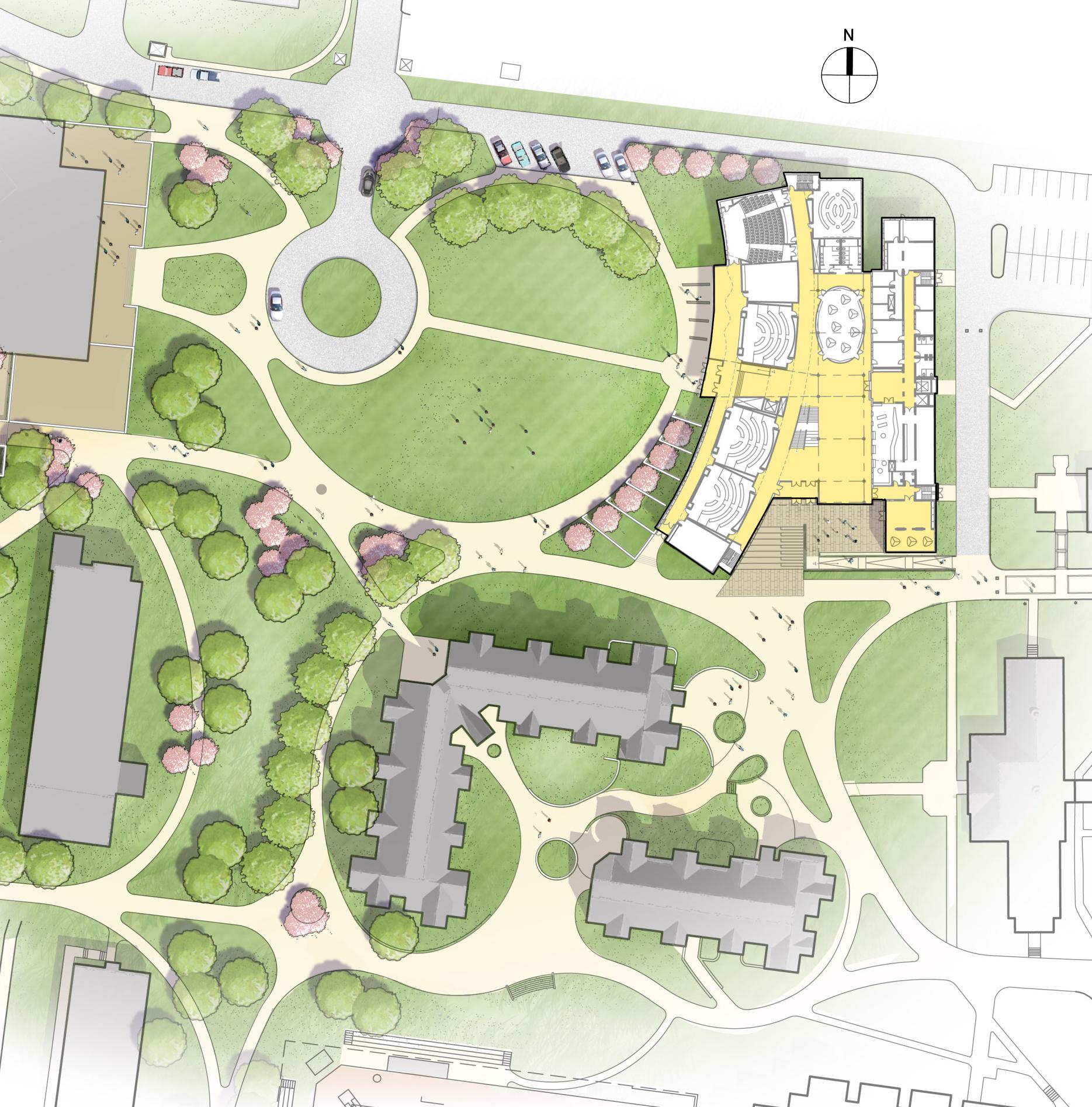 Site plan for renovation