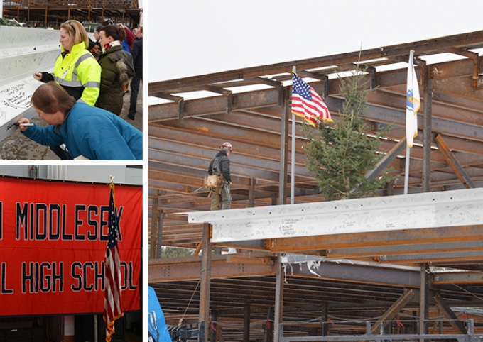 NMRHS North Middlesex Regional High School Celebrates Topping Off Ceremony