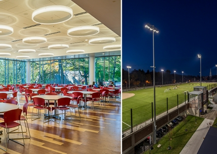 Framingham State McCarthy Dining Commons Worcester Polytechnic Institute WPI Elevated Field