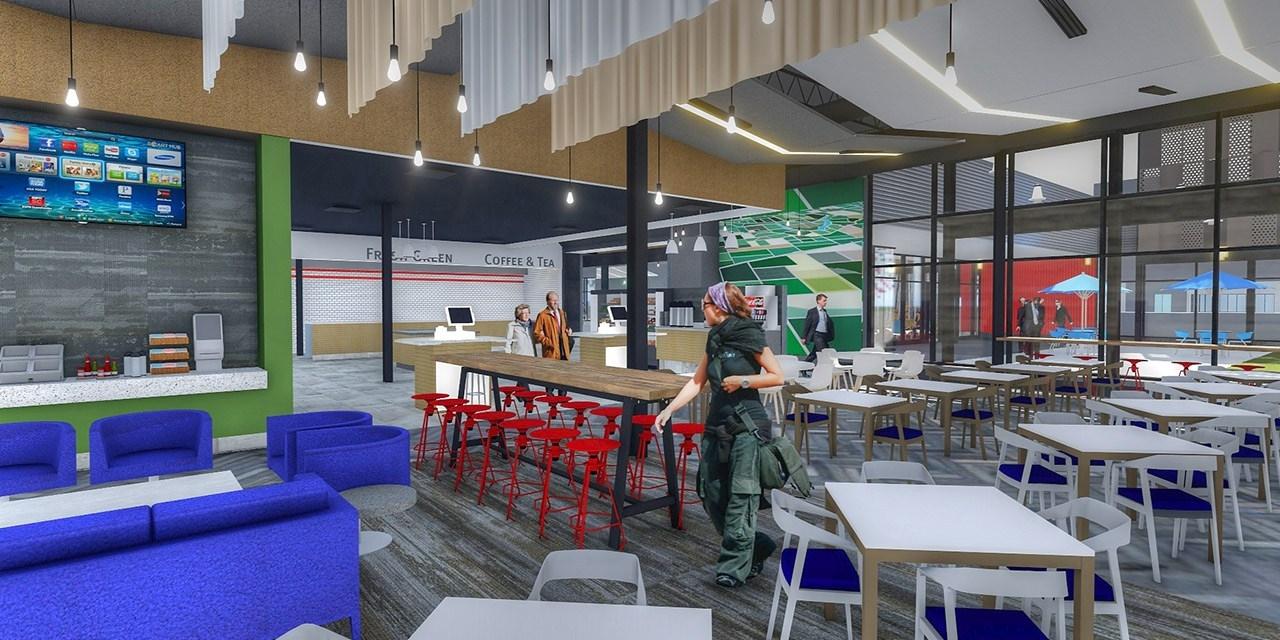 Design Rendering of Interior Cafe