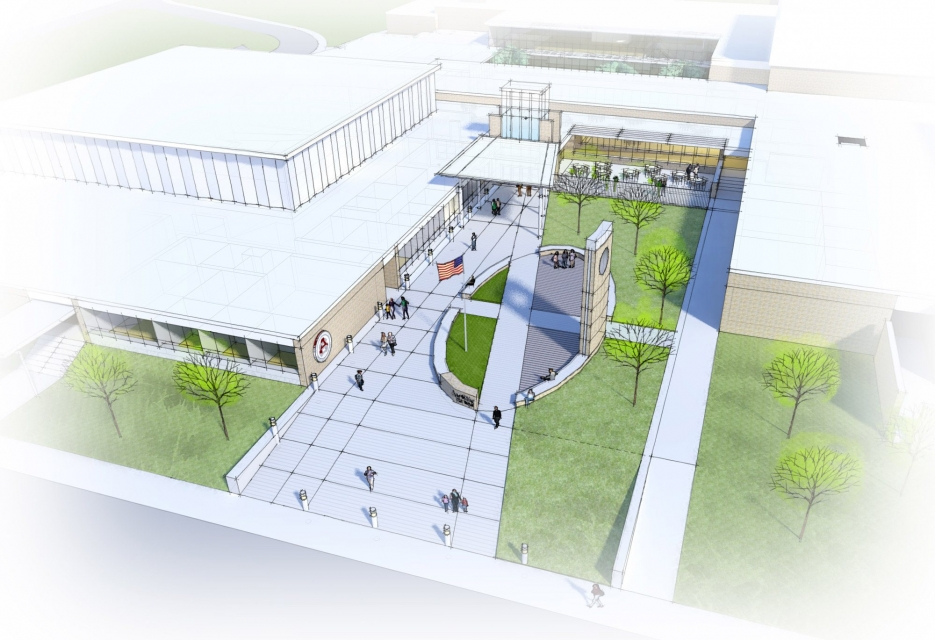 Birds eye image of school design