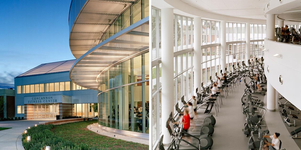 Concannon Fitness Center Design Interior and Exterior