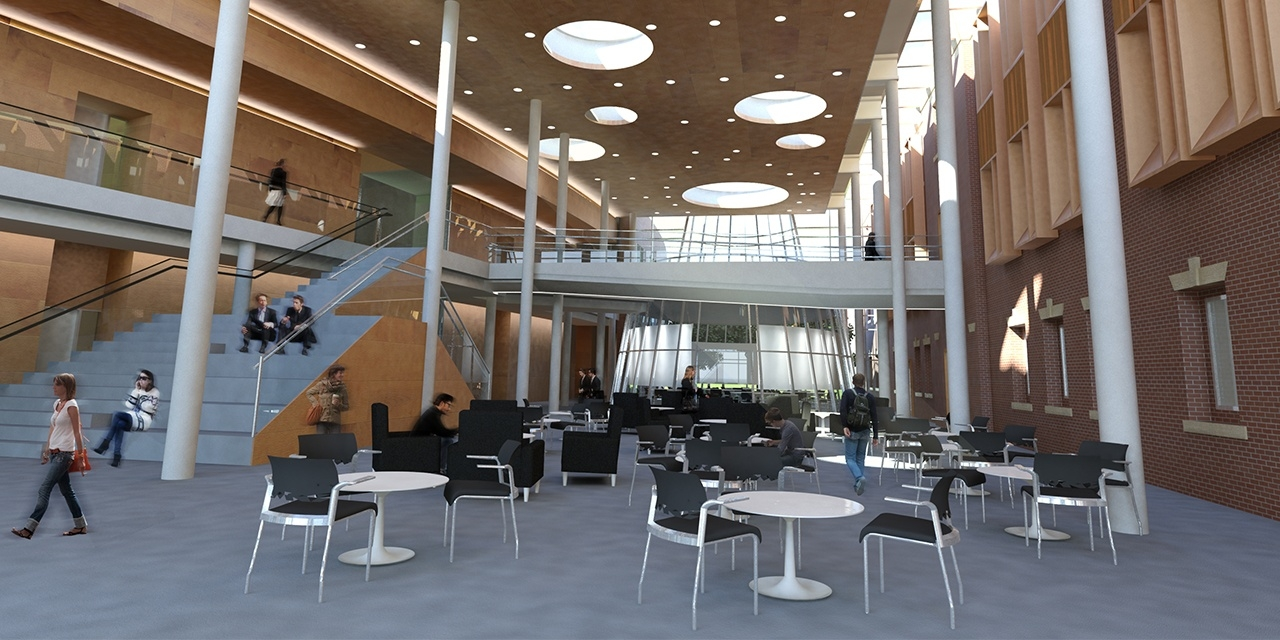 Atrium image of Providence College School of Business