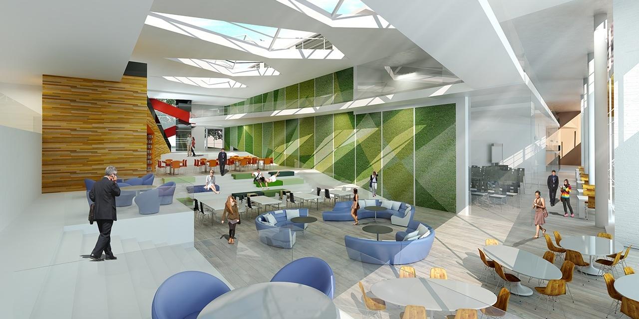 Interior Rendering of College Student Center