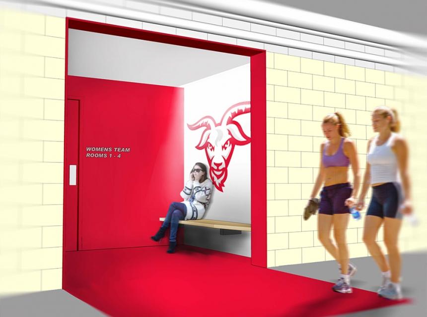 SMMA renovations of WPI Locker Room Athletic Facility